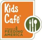 Kids Cafe a program of Feeding America orange green jpg logo