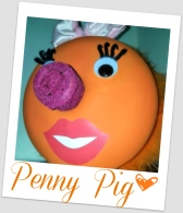 Penny Pig Framed
